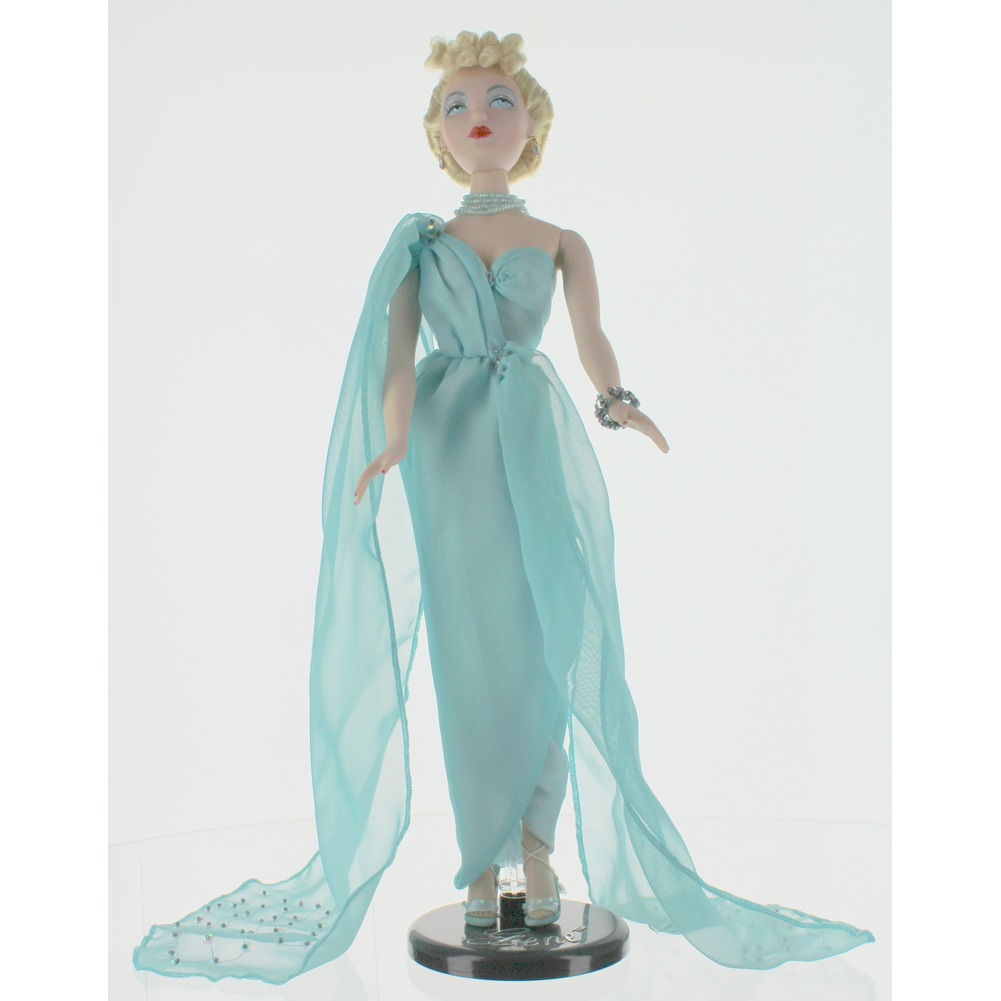 "Gene Marshall Doll with Blue Goddess Outfit 16"" By Mel Odom Ashton Drake Galleries"