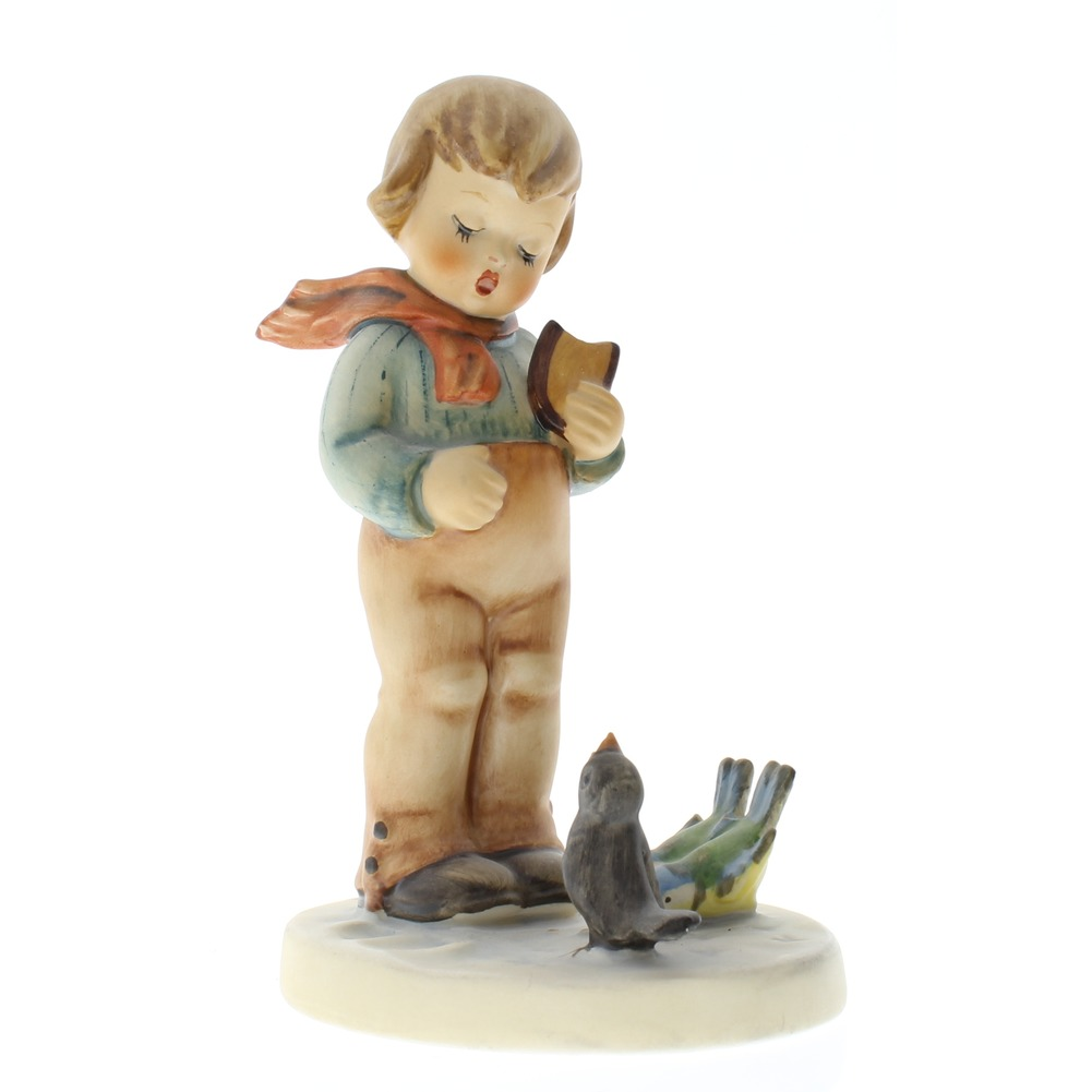 Goebel Hummel Figurine #300 Bird Watcher Little Boy with friends TMK 5