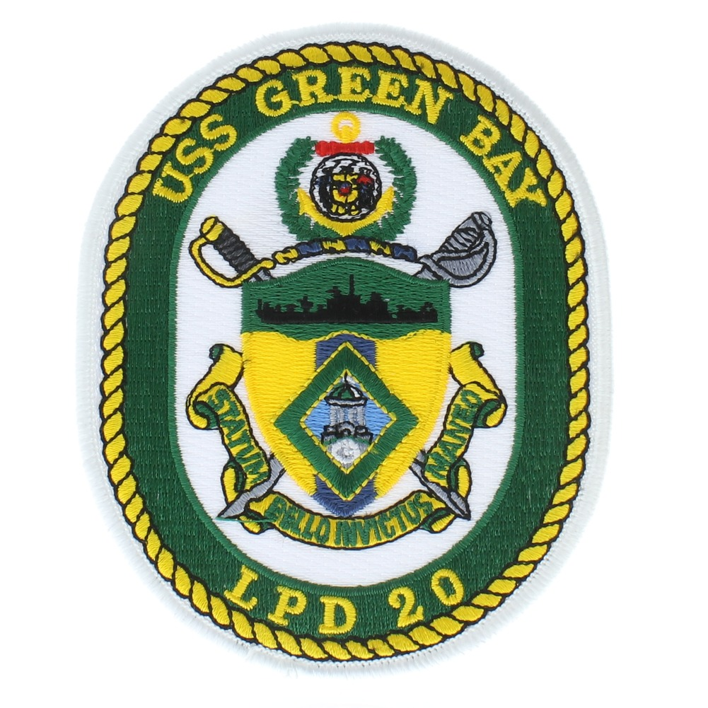 United States Navy USS GreenBay LPD 20 Uniform Patch
