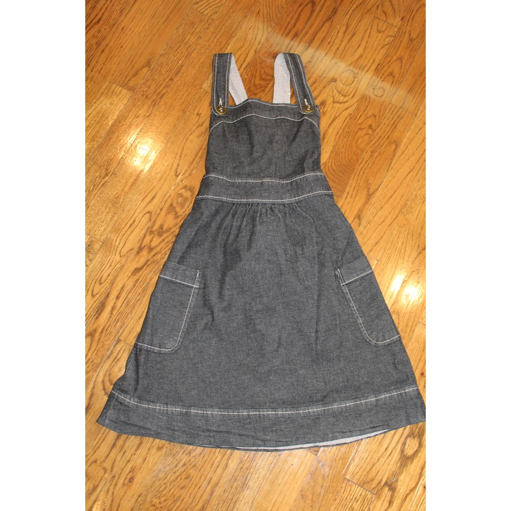 Mossimo Supply Co. Girls XS Gray Strap Belted Jumper Dress