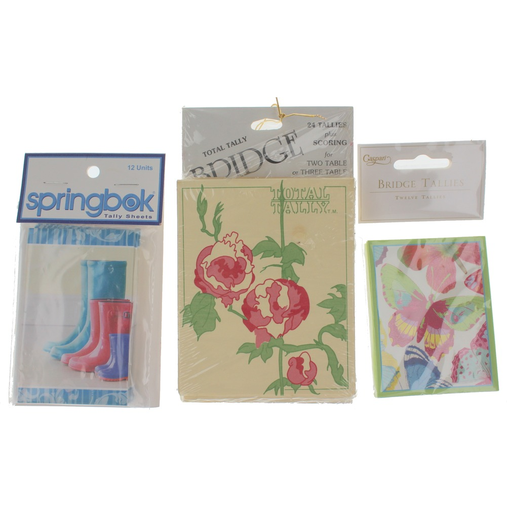 Hallmark Butterfly Roses and Rainboots Three-Table Tally set of 12