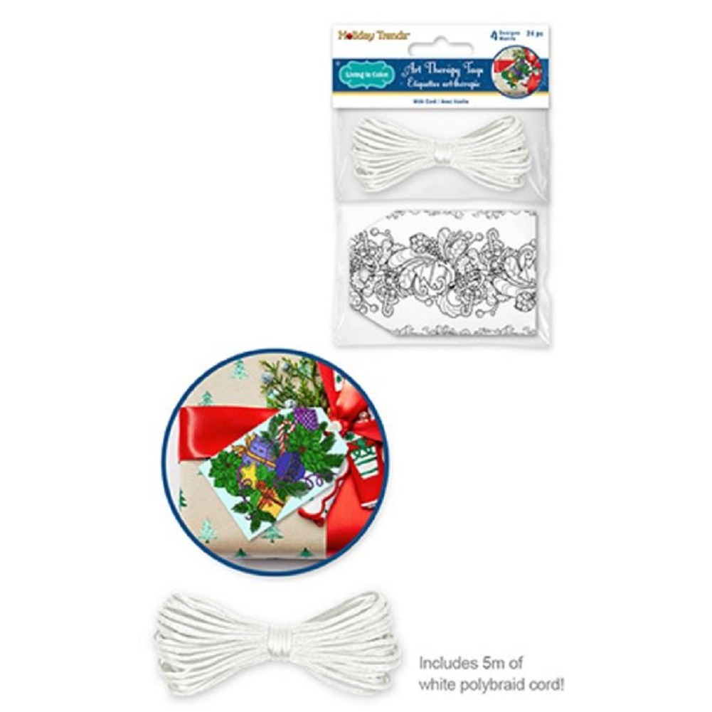 Color Create your Own Gift Tag Set of 24 Pieces 4 Designs Holiday Design