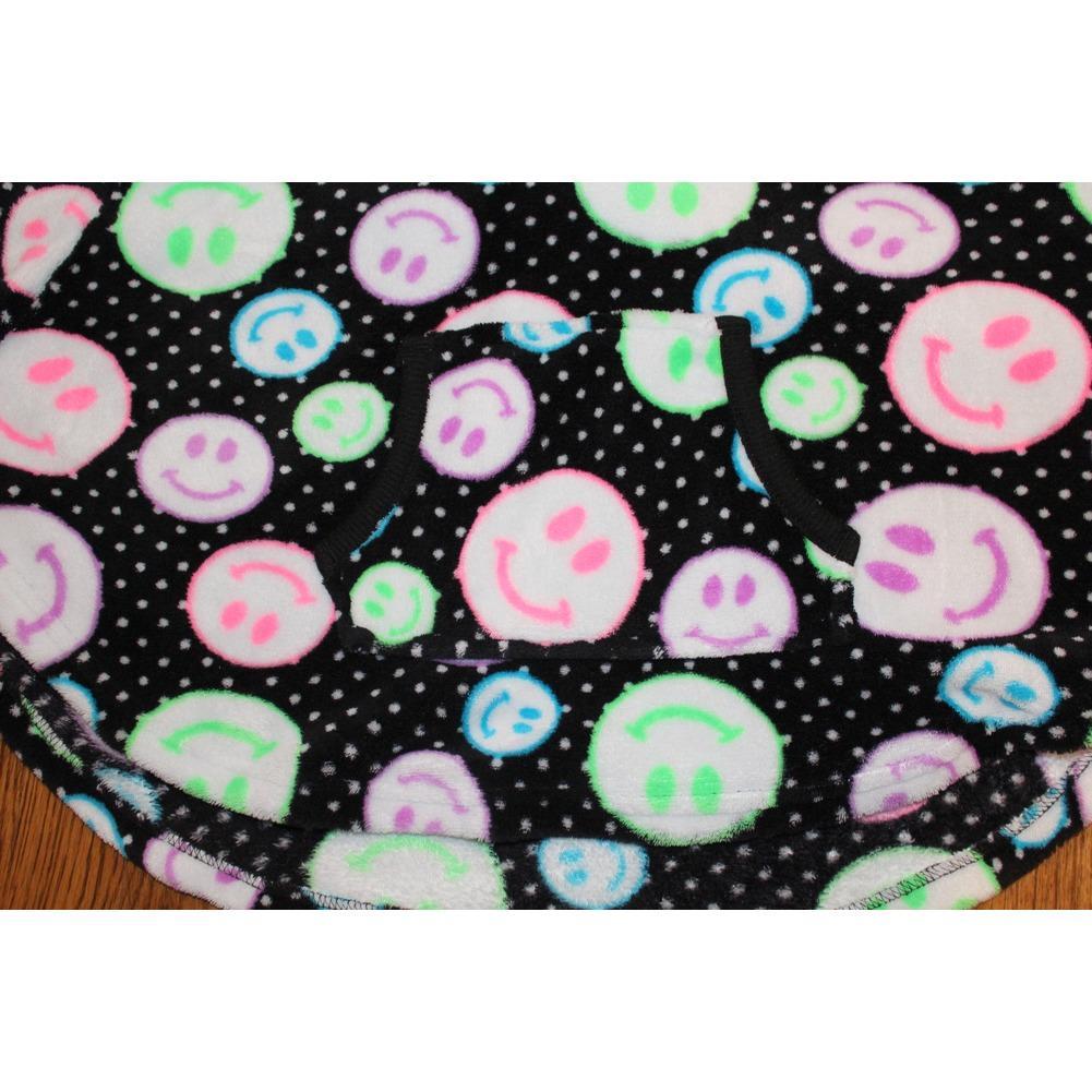 Girls Justice Faux Fur Hoodie Sleepwear P J Sz 8 10 Shaw Cape