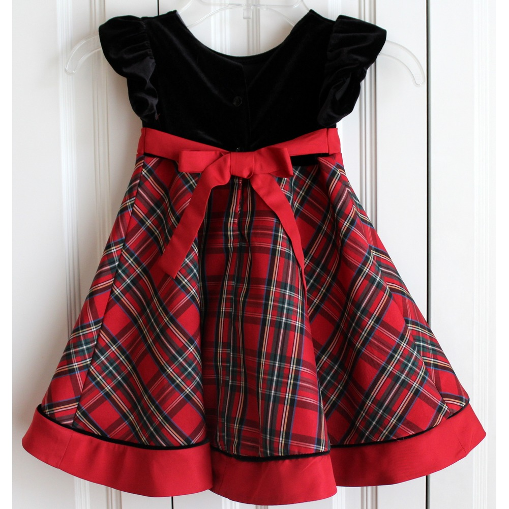 Goodlad Holiday Princess Plaid Sz 18 Mo Red Green Black Dress EUC