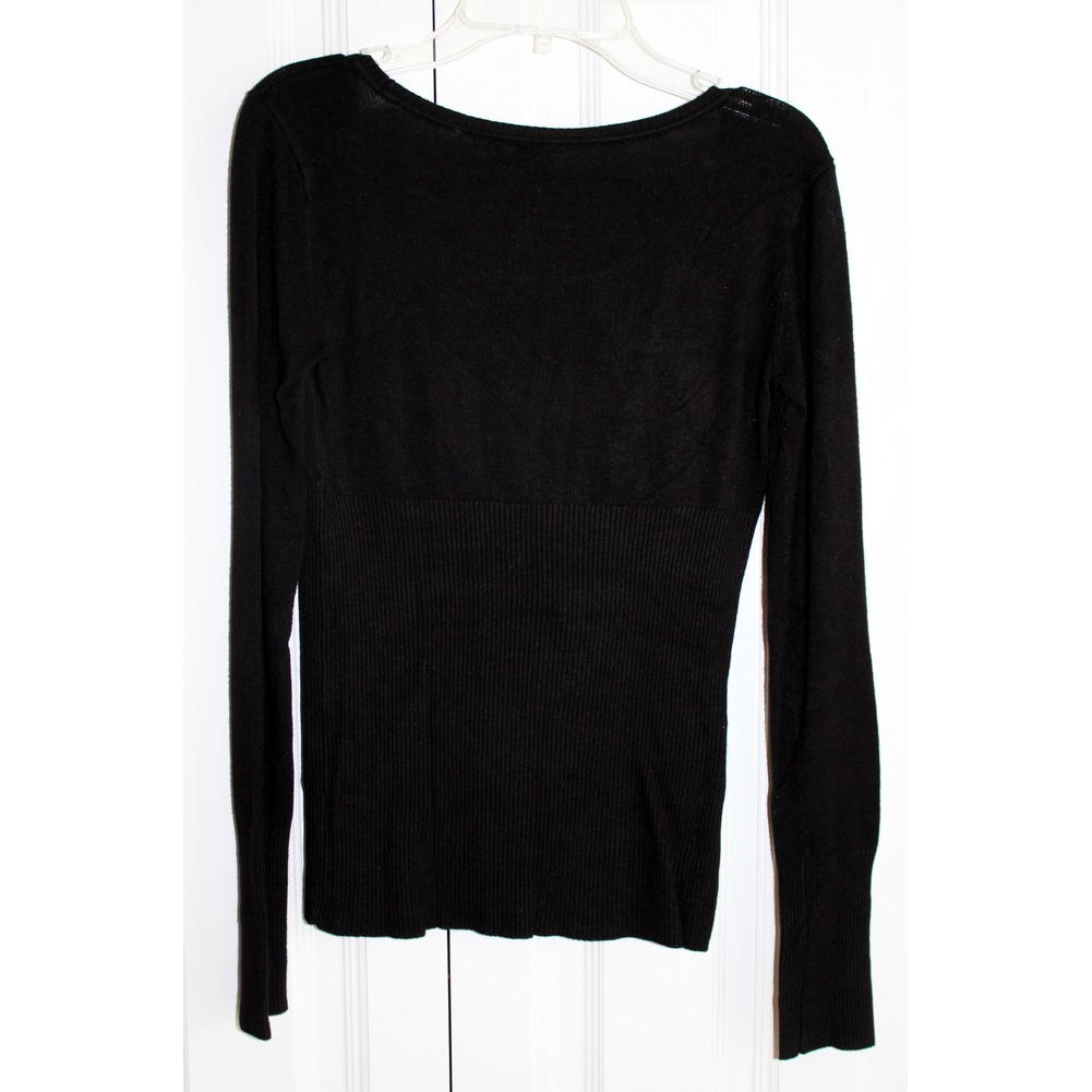 Womens Guess  Black Long Sleeve Sweater Blingy Sequins