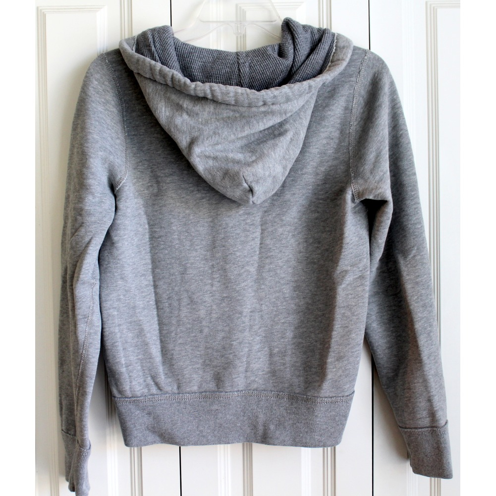 Boys Abercrombie Kids A&F Sz L Gray Full Zip Hooded Sweatshirt Jacket
