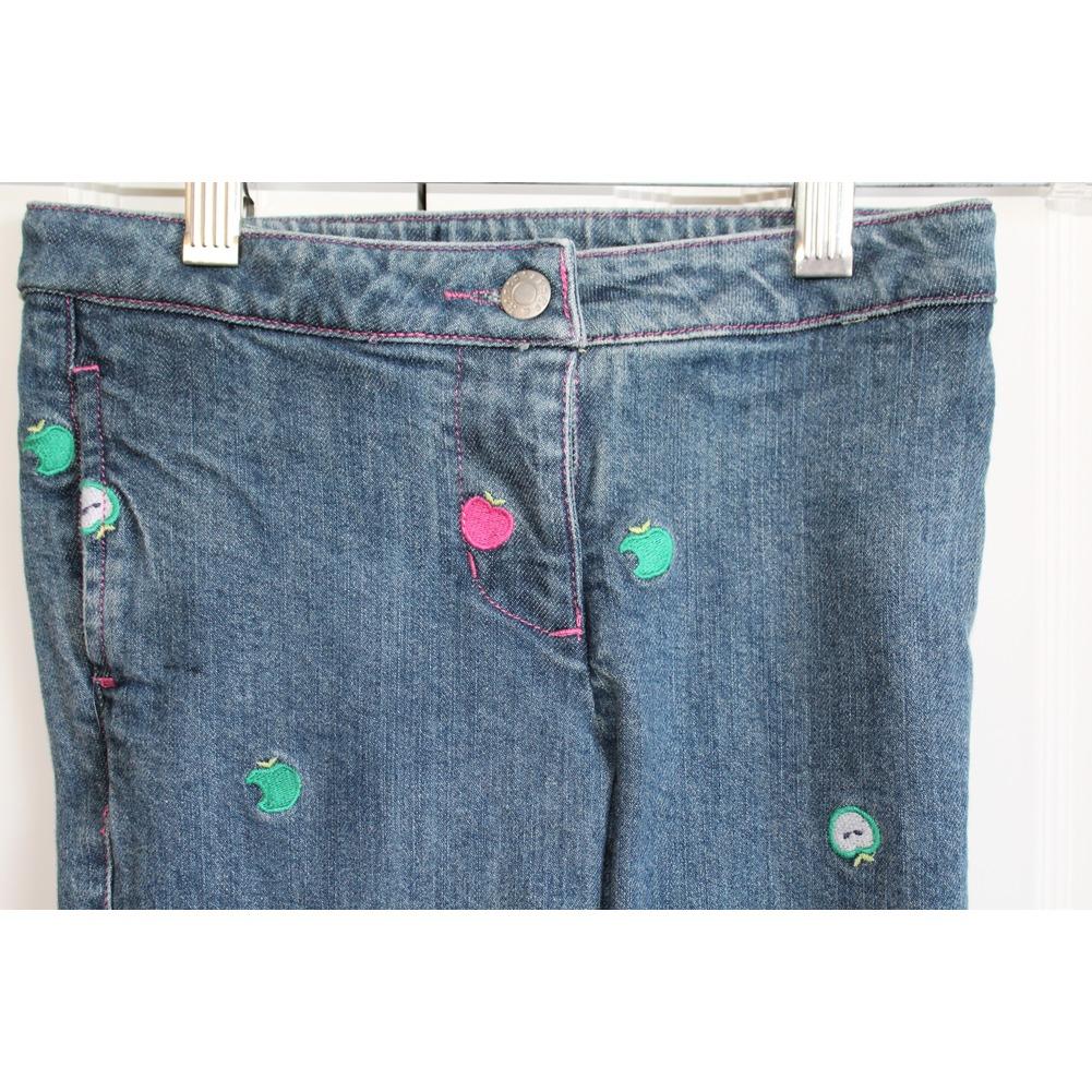 Hartstrings Girls Sz 4 Denim Apple Jeans