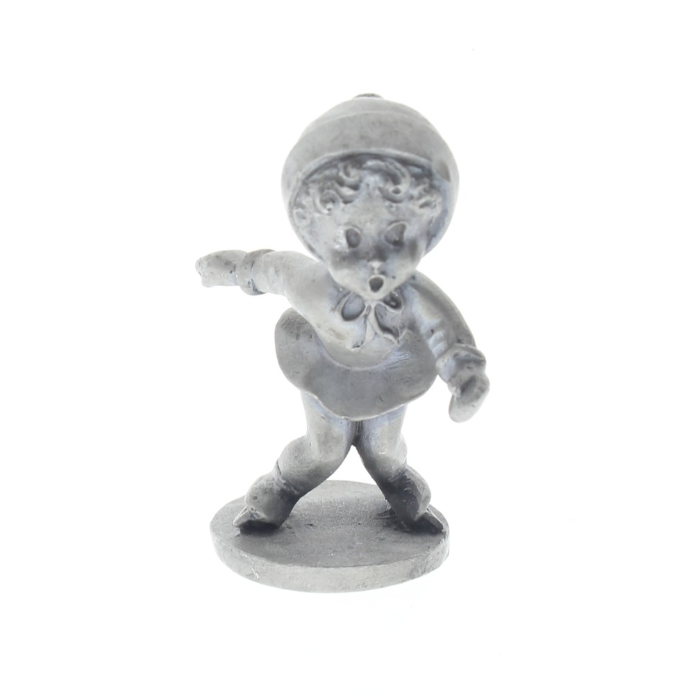 Finest Pewter Figurine Little Girl Ice Skating About to Fall