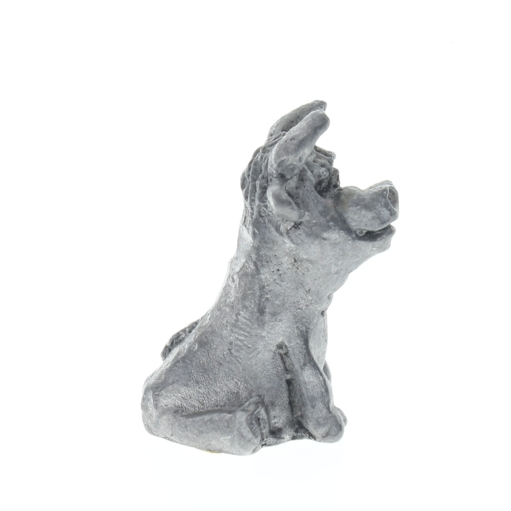 Pewter Figurine Bull Cow Caricature Style