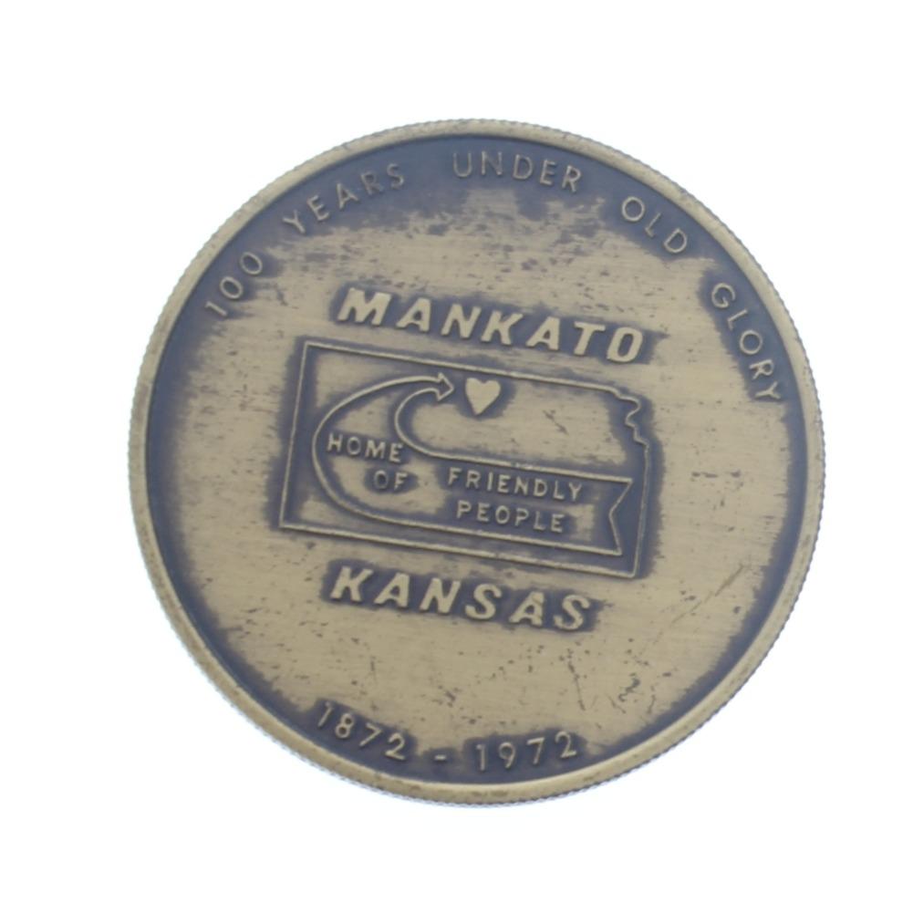 Centennial Seal of Mankato Kansas 100 Years 1872-1972 Medallion Token