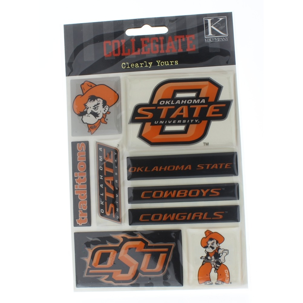 K and Company  Sticker Pack Oklahoma State Collegiate OSU Clearly Yours