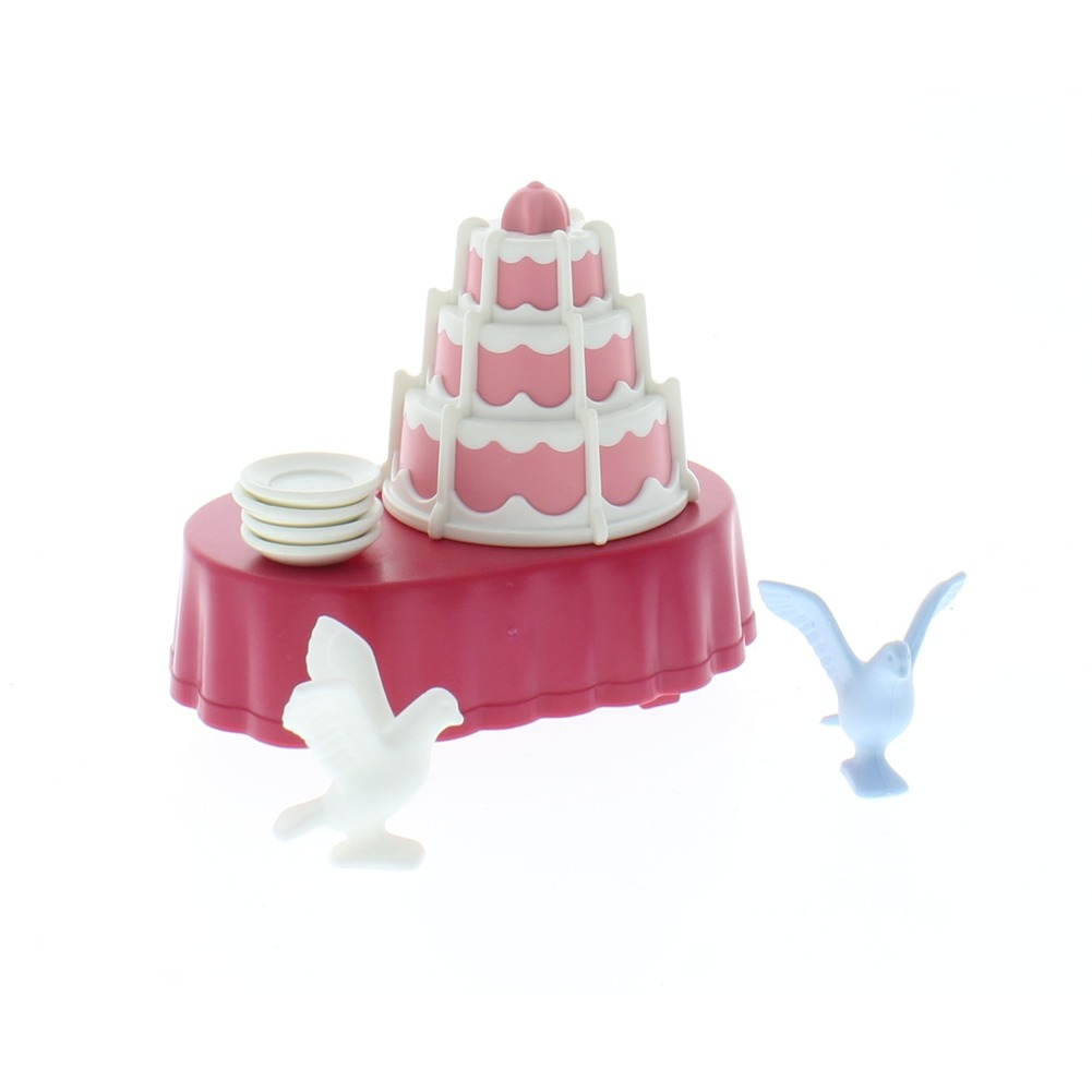 Playmobil City Life Wedding Celebration 6871 Doll set  Reception Table Dishes Doves