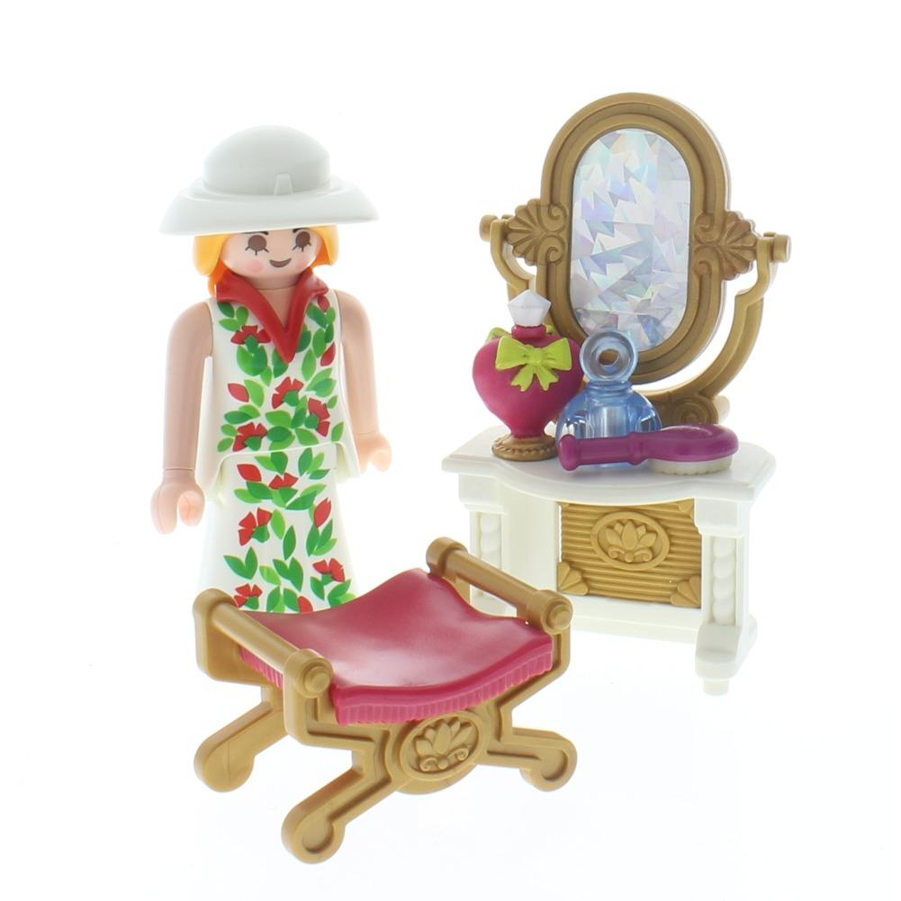 Playmobil Victorian Aristocrat Woman Vanity Perfume Bottles Doll Set