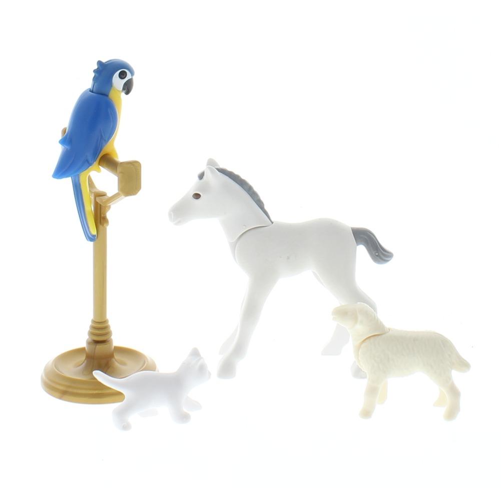 Playmobil Victorian Castle Animal Lot Horse Parrot Cat Sheep lot Doll Set