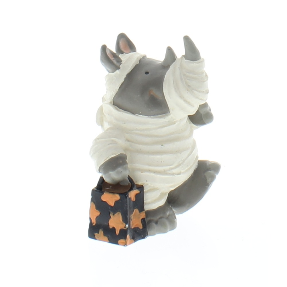 Hallmark Merry Miniatures 1995 Rhino Rhinoceros in Mummy Costume  Figure