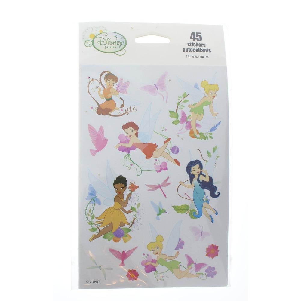 Disney Vintage Sticker Pack Faeries Fairies Fairy Tinker Bell Flowers