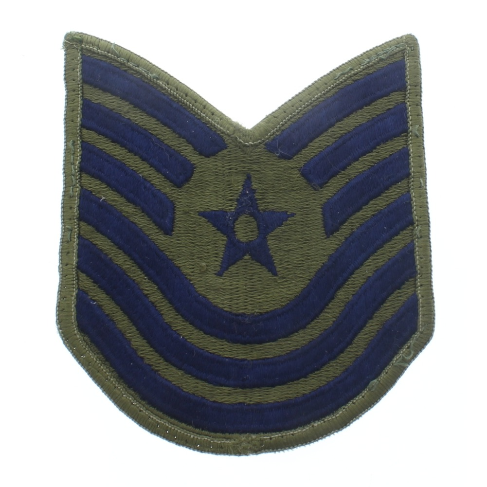 6 Stripe E-6 Technical Sargeant OD Green Uniform Patch - United States Air Force  USAF