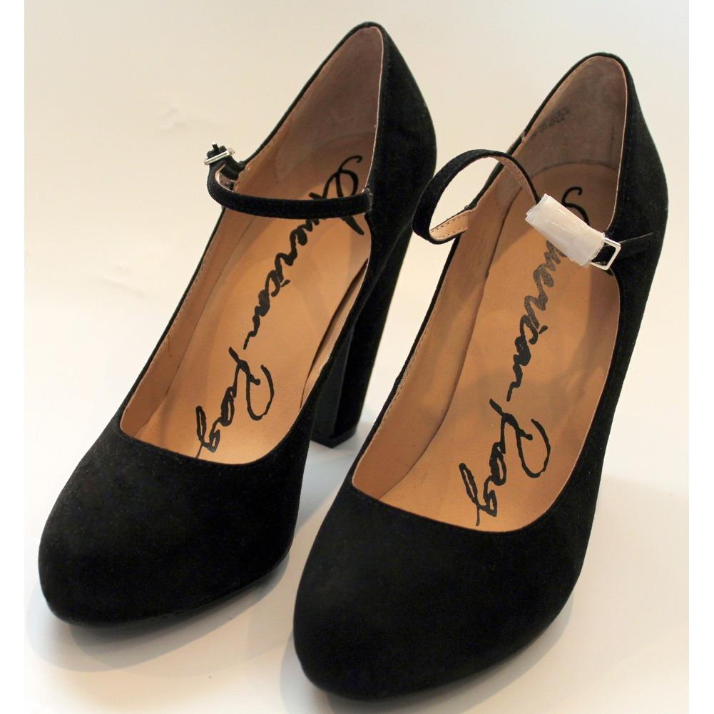 Womens American Rag High Heel Shoes Suede Black Sz 9.5 M