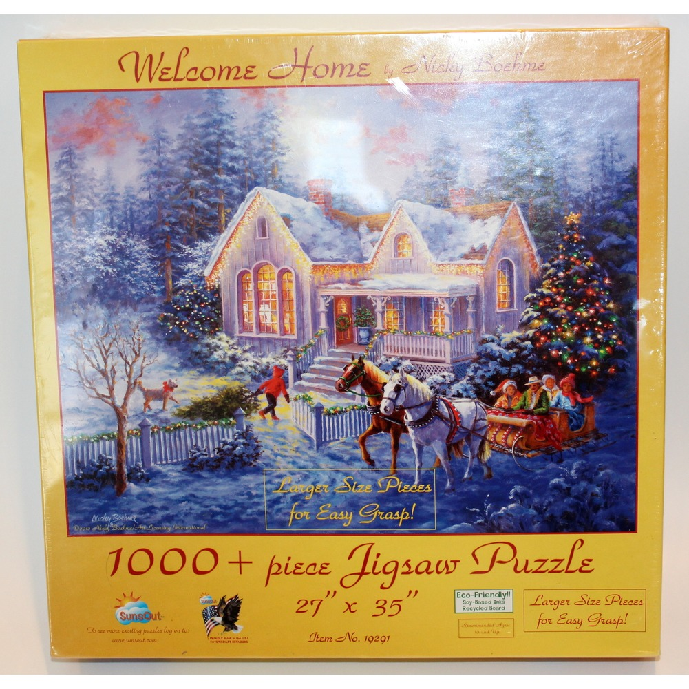 Welcome Home Nicky Boehme Large Size Jigsaw 1000 PC Puzzle