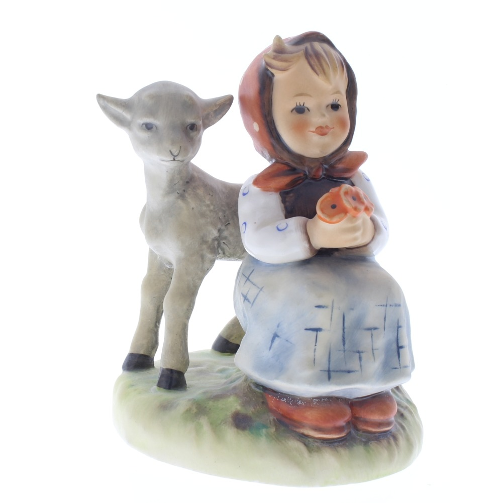 Goebel Hummel Figurine #182 Good Friends Girl with Baby Goat TMK 5