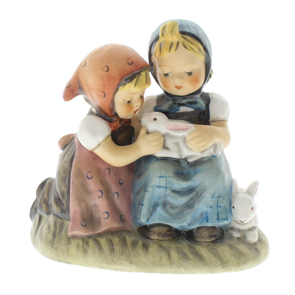 Goebel Hummel Figurine Girls with Bunny Rabbits Eastertime TMK 5