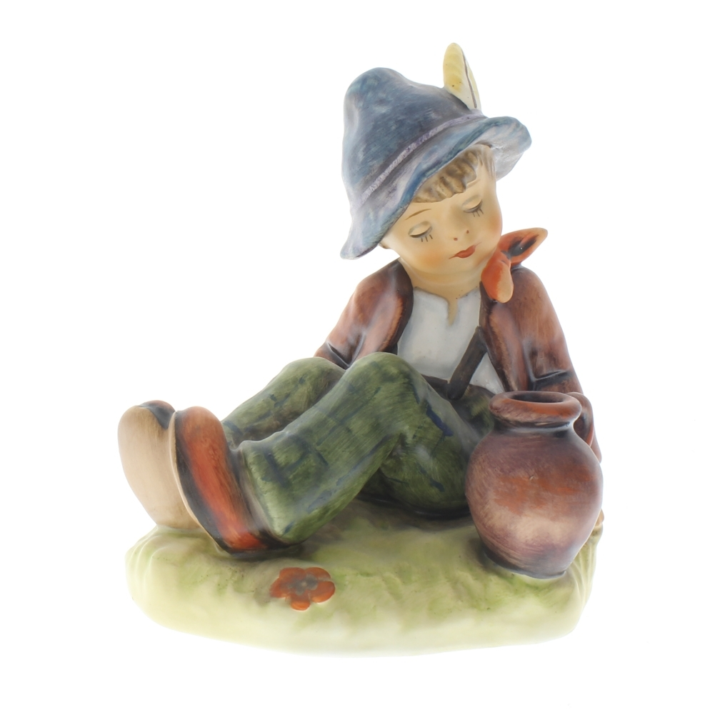 Goebel Hummel Figurine Coffee Break Boy taking a Rest TMK 6