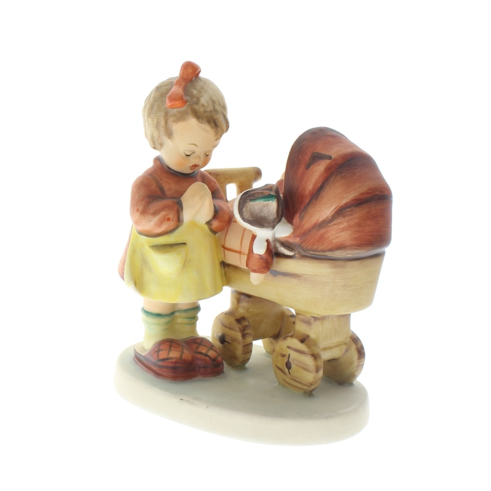 Goebel Hummel Figurine Doll Mother with Baby Buggy #67 Tmk 6