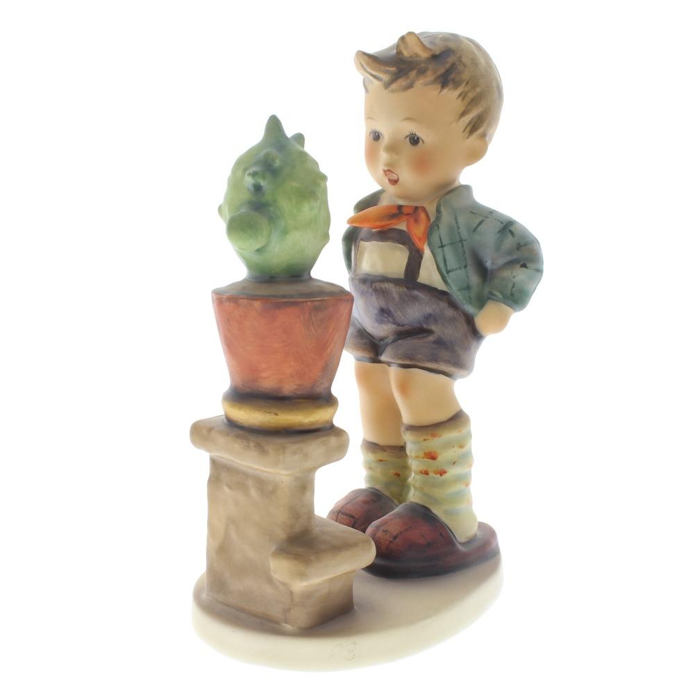Goebel Hummel Figurine Confidentiallity Boy with Cactus #314 Tmk 5