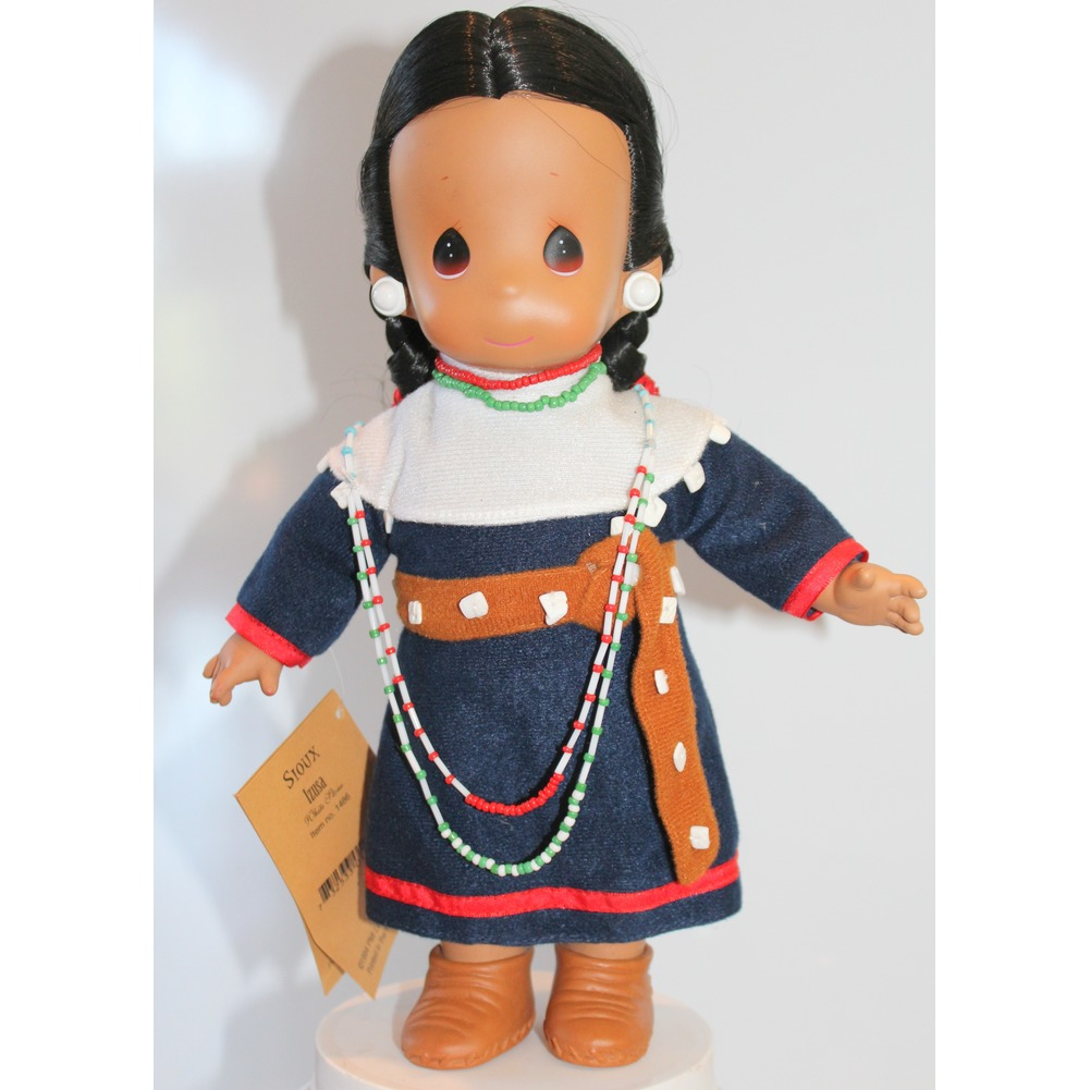 """Precious Moments Doll 12"""" Little Girl Native American Indian Sioux Izusa"""