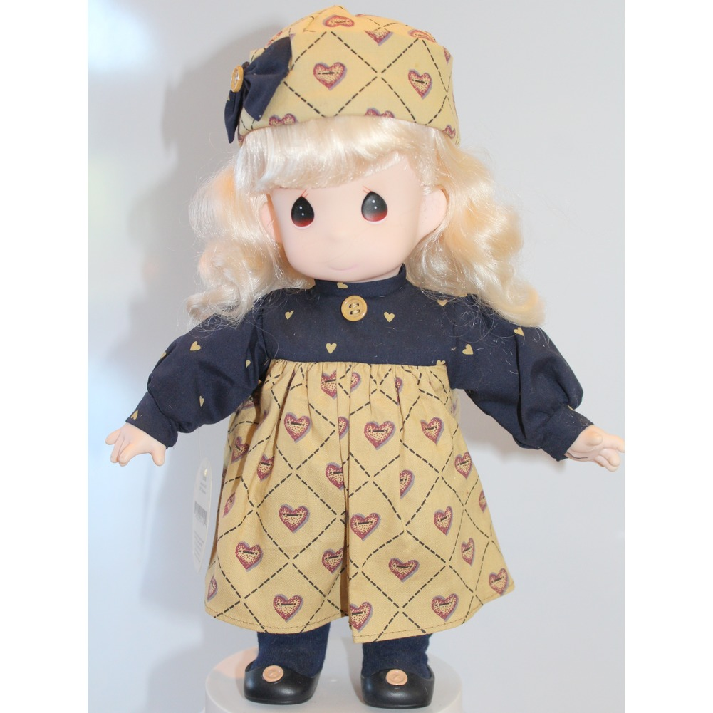 "Precious Moments Doll 12""Country Kid Heart Dress Laurie"