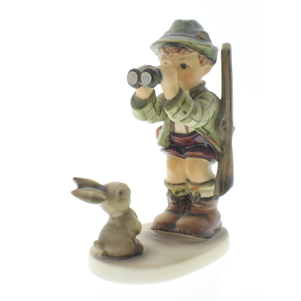 Goebel Hummel Figurine Good Hunting Boy with Bunny #307 Tmk 5