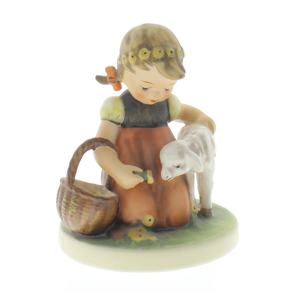 Goebel Hummel Figurine Favorite Pet Girl with Lamb #361 Tmk 6