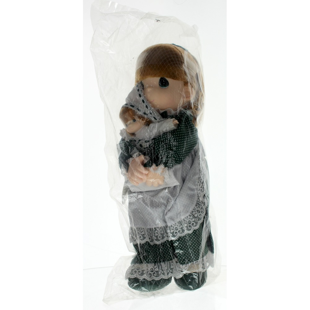 """Precious Moments Doll 16"""" Little Girl Irish Kelly doll with Baby Erin in Bag new"""