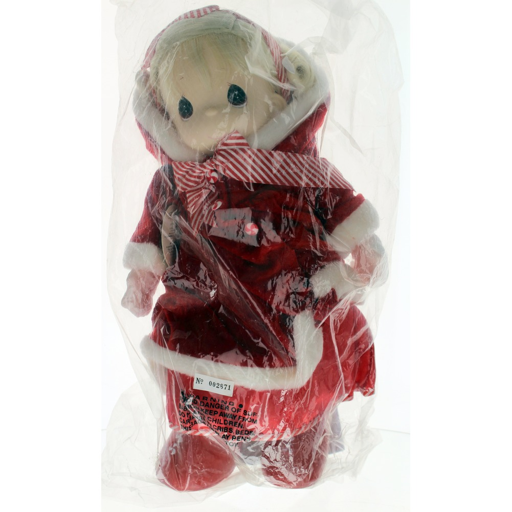 "Precious Moments Doll 16"" Little Girl Christmas Candy in original Bag"