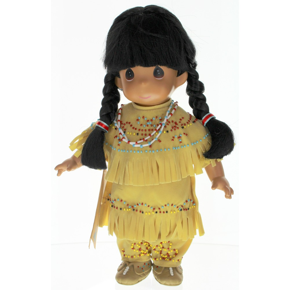"Precious Moments Doll 12"" Little Girl Native American Indian Iroquois Lomasi"