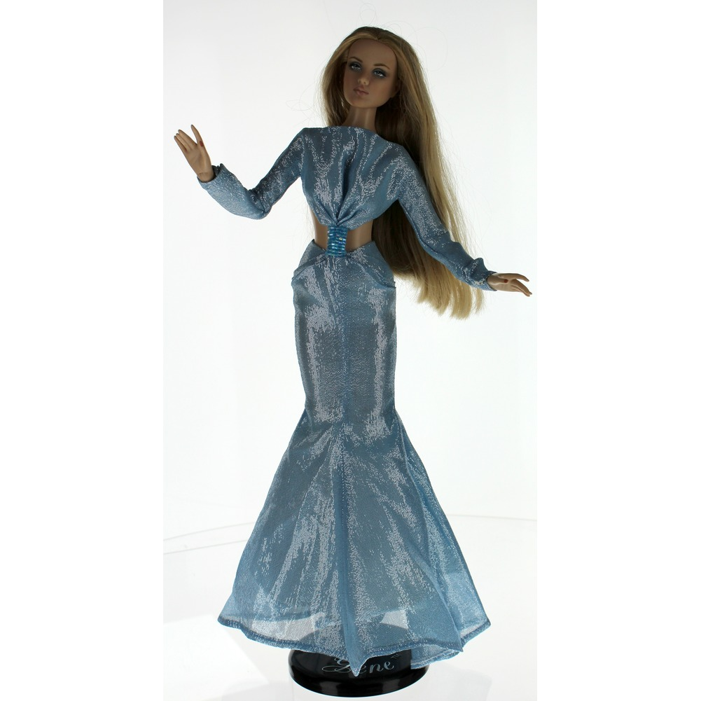"Robert Tonner High Style Sydney Chase Ice Blue Ball Gown Dress 16"" doll tagged"