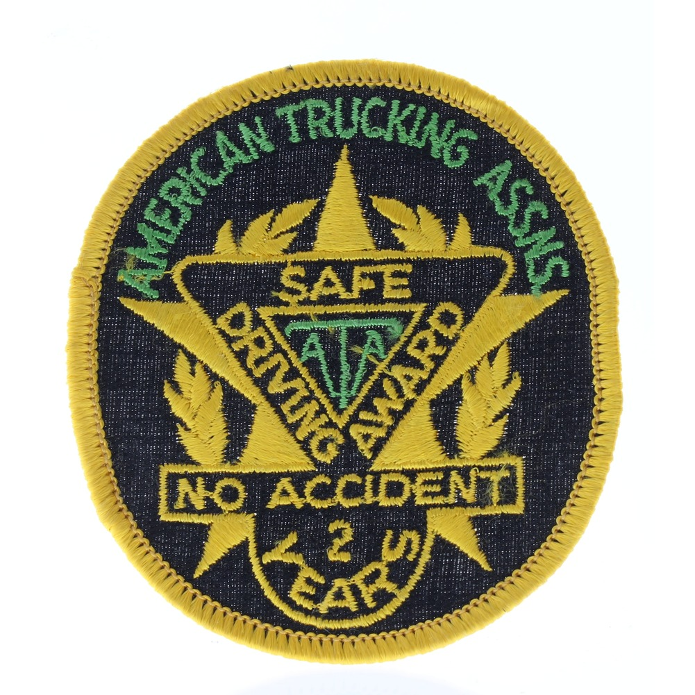 Safe Driving Award No accident 2 years American Trucker Assoc. Uniform Patch