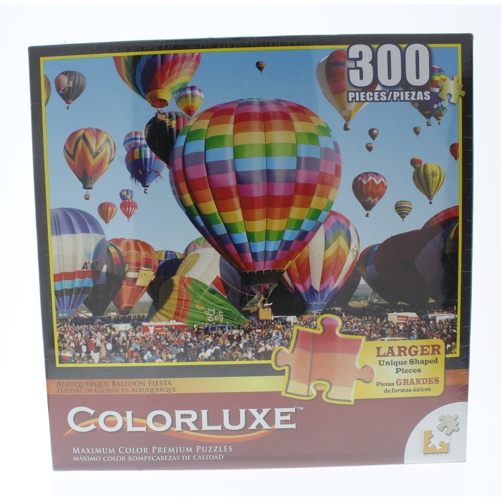 Colorluxe 300 PC Piece Puzzle Larger Uniqued Shapes Albuquerque Balloon Fiesta