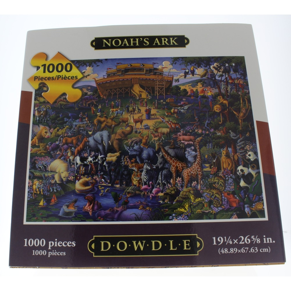 Noah's Ark Folk Art Dowdle 1000 PC Piece Puzzle