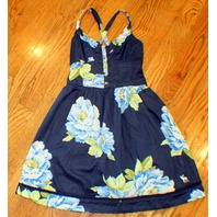 Abercrombie Fitch Kids Sz Small Navy Flower Holiday Sun Dress AF