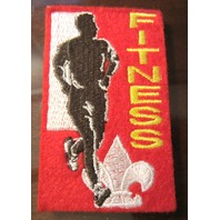 Uniform Patch Boy Scout Bsa Fitness Felt Patch With Fleur Di Lis And Runner