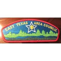 Bsa Boy Scout Uniform Pocket Flap Patch East Texas Area Council With Star