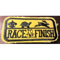 Uniform Patch Boy Scout Race To The Finish Yellow And Black