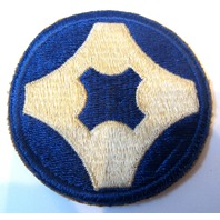 4Th Service Command Military Uniform Patch Blue And White 1941-1946