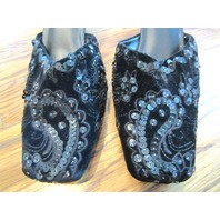 Womens Chico Shoes Black Sequin High Heels Sz 7 M Seville Holiday Pumps