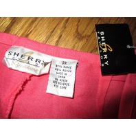 Sherry Taylor Signature Chic Coral Casual Pants Slacks 3X Woman Nwt