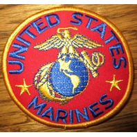 United States Marines Us Uniform Patch Eagle With Globe Red