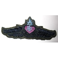 Military Uniform Patch Purple Heart With Pumba Leopard Cats Army Green
