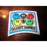 Bsa Boy Scout Uniform Patch Segment Bar Scout Games Smiling Faced Crowd Audience