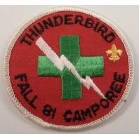 Bsa Boy Scout Uniform Patch Thunderbird Fall 1981 Camporee Lightning Bolt Cross